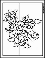 Bouquet Coloring Flower Pages Flowers Printable Pdf Drawing Line Primrose Daisies Colorwithfuzzy Getdrawings Getcolorings sketch template