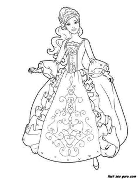 printable barbie princess dress book coloring pages  kids coloring pages printable