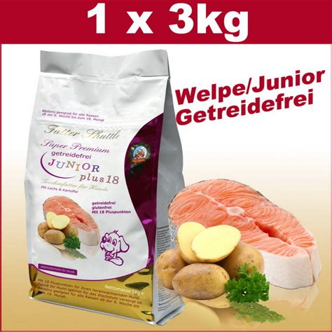 getreidefreies welpenfutter junior hunde trockenfutter kg