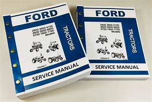 Ford 2600 3600 4100 4600 Tractor Service Manual Technical