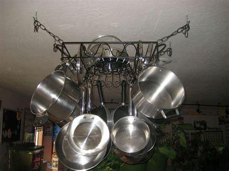 diy hanging pot pan rack
