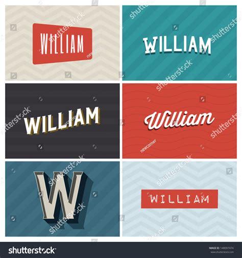 william graphic design elements stock vector