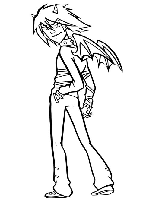 demon coloring pages coloring pages    print