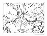 Volcano Coloring Pages Erupting Zoomed Close Crop Previous sketch template
