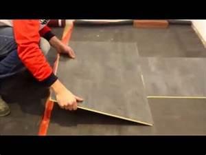 Pose Sol Stratifié : pose dalle sol stratifi faus 60x60 youtube ~ Melissatoandfro.com Idées de Décoration