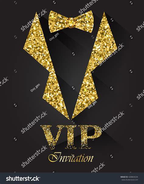 black vip background  golden tuxedo  bow tie