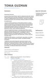 resume for social worker manager social work resume sles visualcv resume sles database