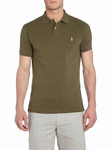 Polo ralph lauren Custom Fit Mesh Polo Shirt in Green for ...