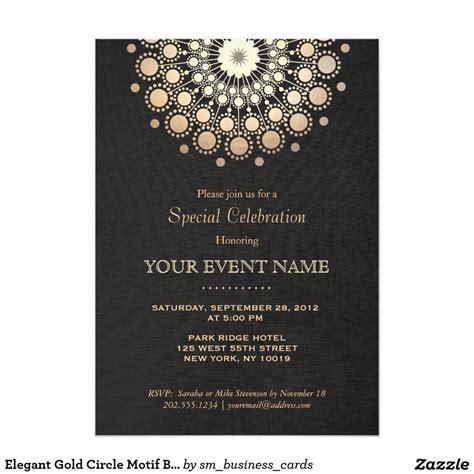 Elegant Gold Mandala Black Formal Invitation Zazzle com