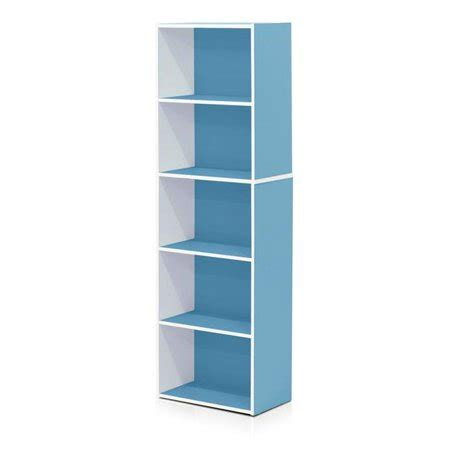 Light Blue Bookcase by 11055wh Lbl 5 Tier Reversible Open Shelf Bookcase White