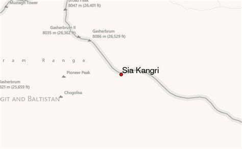 Sia Kangri Mountain Information