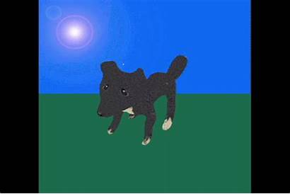 Roxy Jumps Animated 3d Dog Created Quirk