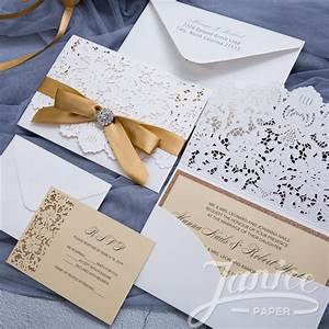 graceful pearl white laser cut pocket wholesale wedding With wedding invitation pockets wholesale