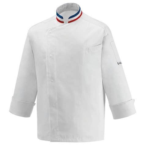 tablier cuisine homme personnalisé veste de cuisine mof col bleu blanc broderie possible