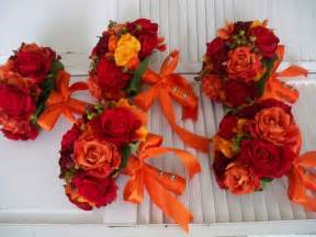 Orange And Red Autumn And Fall Rich And Romantic Bridal