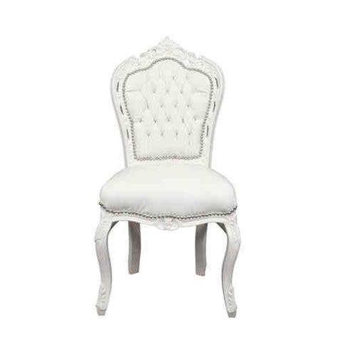 chaise baroque blanche et grise