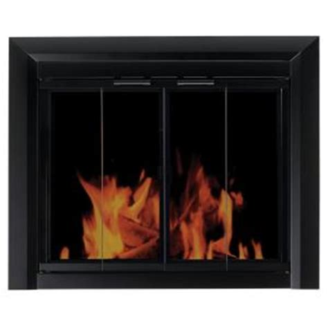 Glass Fireplace Doors Home Depot - pleasant hearth clairmont small glass fireplace doors cm