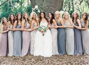 blue grey bridesmaid dresses mismatched bridesmaids dresses weddingbee