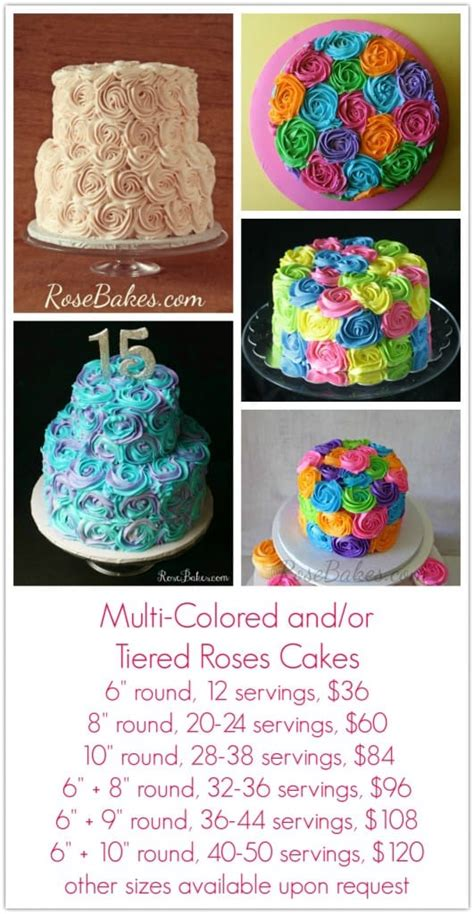 charge  cakes rose bakes
