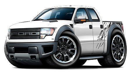 ford raptor  pickup truck    car toon