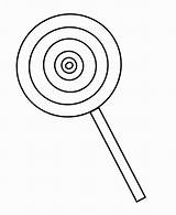 Lollipop Coloring Pages Easy sketch template