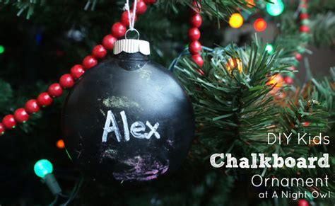 diy kids chalkboard ornament  night owl blog