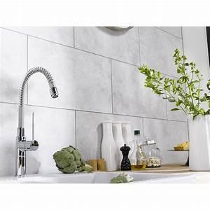 dalle murale pvc blanc dumaplast dumawall l65 x l375 cm With carrelage adhesif salle de bain avec enseigne a led