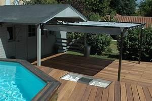 amenagement creatif d39une plage de piscine With amenagement de terrasse exterieur 11 terrasse piscine galets