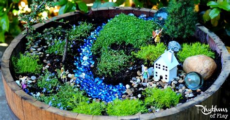 your own garden how to make a fairy garden step by step tutorial rhythms of play