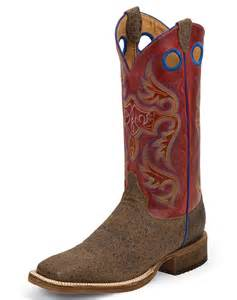 s justin boots size 12 justin 39 s bent rail 13 quot square toe boots brown
