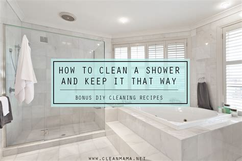 clean  shower      diy recipes