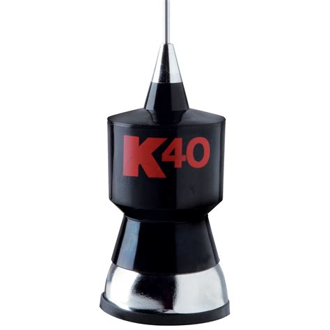 k40 antennas accessories 57 25 quot baseload cb antenna kit w stainless steel whip black w