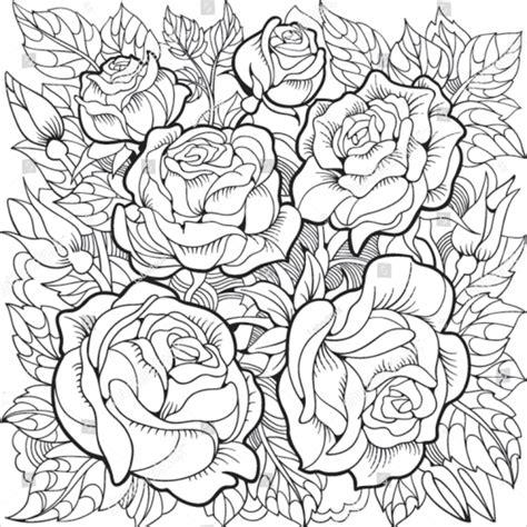 flower coloring pages  premium