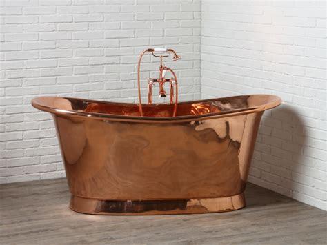 koperen badkuip design vrijstaande ligbaden en baden op pootjes in stijl