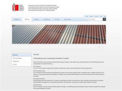 Oesterreichischer Fachverband Fuer Hinterlueftete Fassaden by Schweizerischer Fachverband F 252 R Hinterl 252 Ftete Fassaden