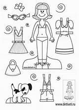 Paper Coloring Activities Crafts Dolls Sheets Baba Knutselen Papieren sketch template