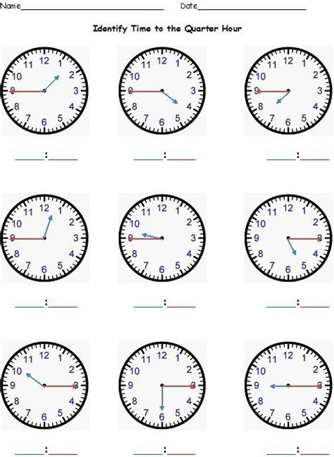 all worksheets 187 telling time to quarter hour worksheets