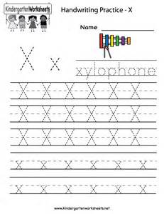 kindergarten letter  writing practice worksheet printable