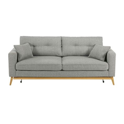 but canap convertible 3 places canapé convertible scandinave 3 places en tissu gris clair