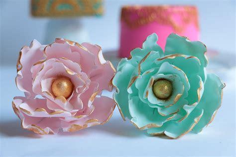how to make gum paste gumpaste peony flower tutorial youtube