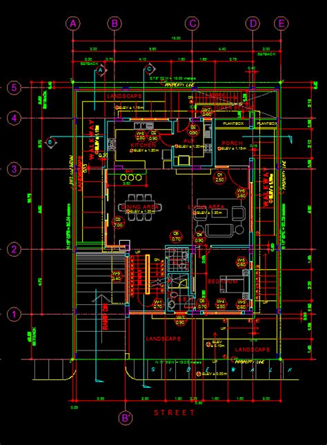 modern house  details  dwg full project  autocad