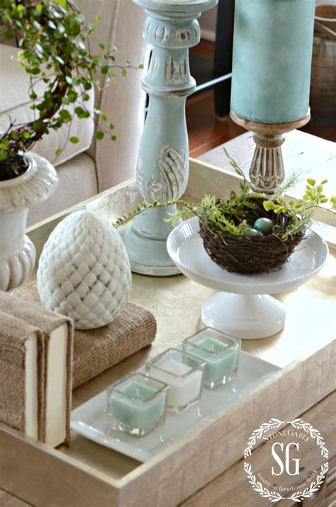 Take a look at our pick of the most stylish and practical coffee tables for classic or contemporary living rooms. SPRING COFFEE TABLE VIGNETTE - StoneGable