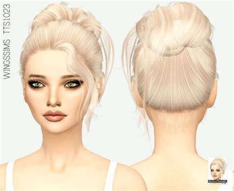 medium bun   hair   sims  sims hair bun