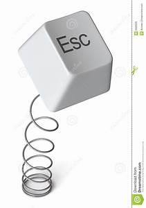 Computer Escape Key    Isolated Stock Illustration