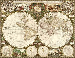 World 1660 Wall Map Mural by Frederick de Wit