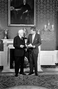 John F. Kennedy and Robert Frost