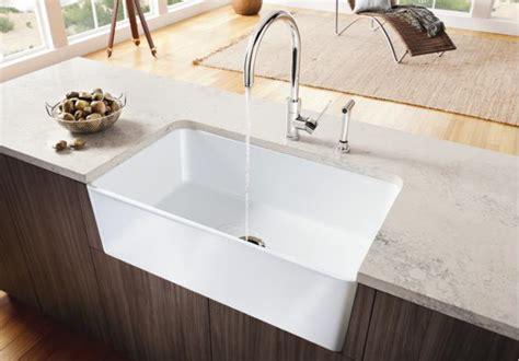 30 apron front sink white blanco 441694 cerana 30 quot fireclay apron front sink white