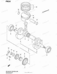 Suzuki Motorcycle 2002 Oem Parts Diagram For Crankshaft