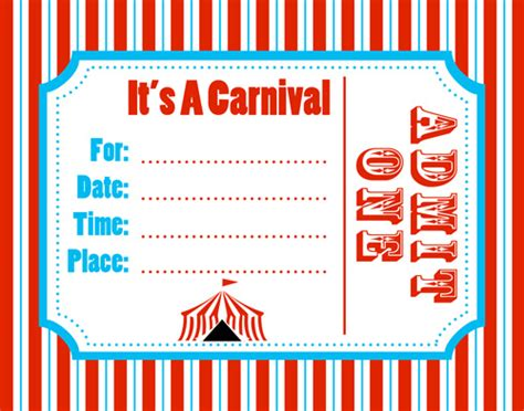 carnival ticket template   clip art