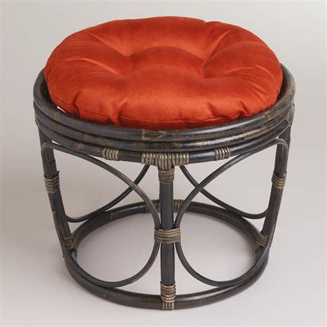 world market papasan chair rust papasan micro suede stool cushion world market